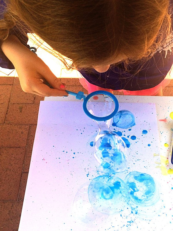 Bubble Paintings with Bubble Blowers