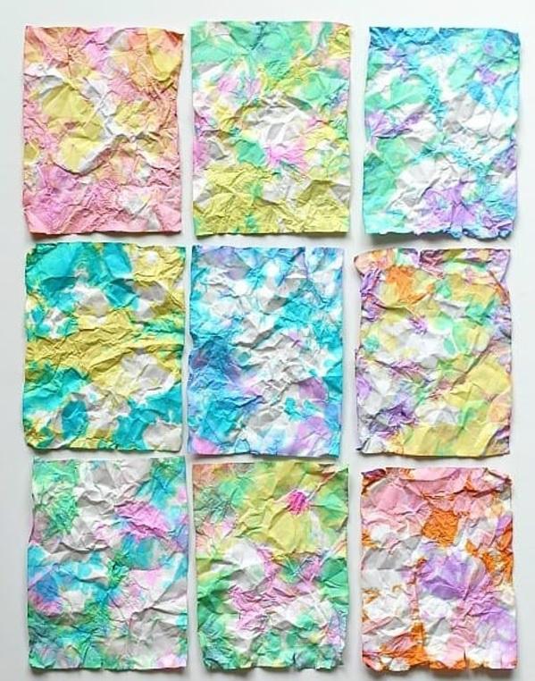 Crumpled Paper Art